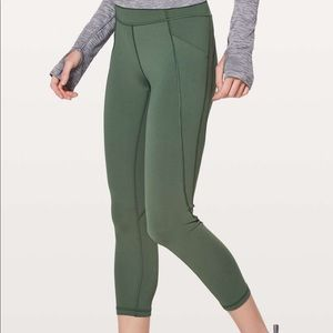 "Lululemon Time To Sweat Crop *23"" Dark Forest"